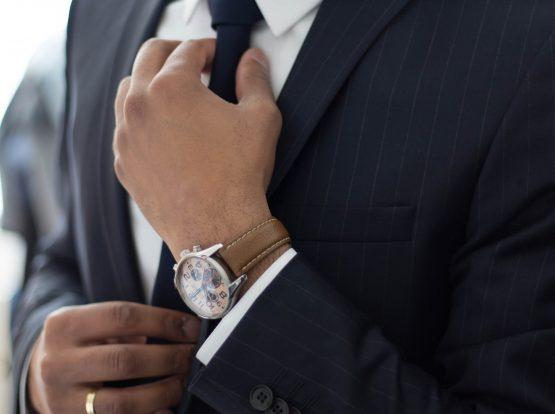 man in a necktie